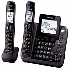Panasonic KX-TG9542B Link2Cell DECT 6.0 2-Line Cordless Phone w/ 2 Handsets & Answering Machine - Black