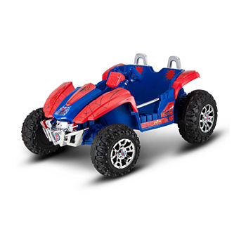 66ade72aa0be KidTrax Spiderman Dune Buggy 12Volt Electric Ride-on in Red & Blue