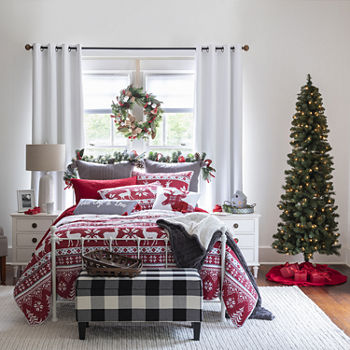 north pole trading company holiday 100 cotton 3 pc quilt - Christmas Bedding Sets