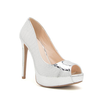 e077ff9683e Qupid Show-72a Womens Heeled Sandals. Add To Cart. Silver. LIMITED TIME  SPECIAL!
