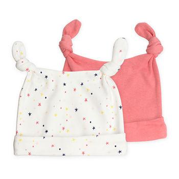 Mac And Moon 2-Pk Cap Set - Baby Girls Girls 2-pc. Baby Hat-Baby 8ffcf42b0347