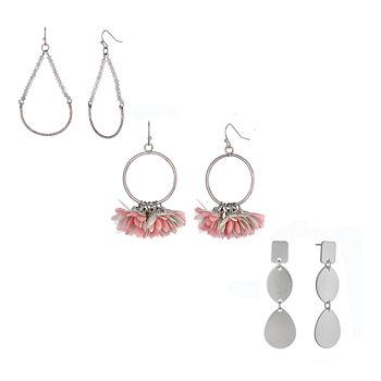 Bijoux Bar Box Earrings 3 Pair Earring Set