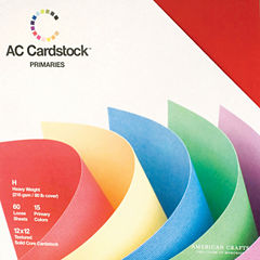 American Crafts Cardstock Pack 12 X1 2