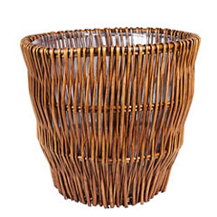 Household Essentials® Medium Reed Willow Waste Basket