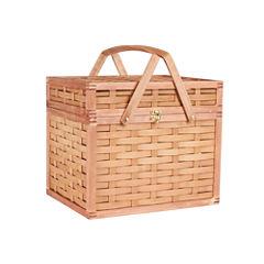 Household Essentials® Bamboo Hamper Picnic Basket