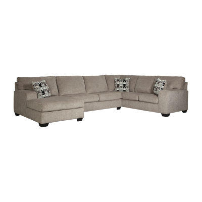 Signature Design By Ashley® Ryder 3 Pc Sectional With Right Arm Facing Sofa