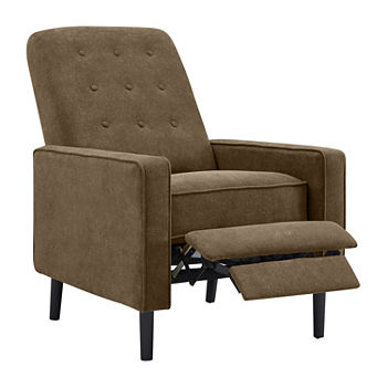 Incredible Hagen Tufted Track Arm Push Back Chenille Recliner Lamtechconsult Wood Chair Design Ideas Lamtechconsultcom