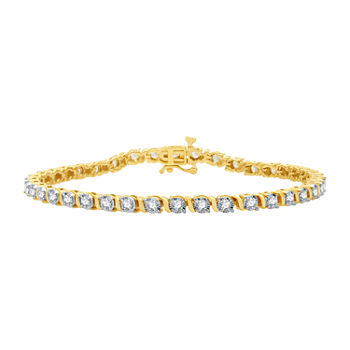 2 CT. T.W. Genuine Diamond 10K Gold 7.5 Inch Tennis Bracelet