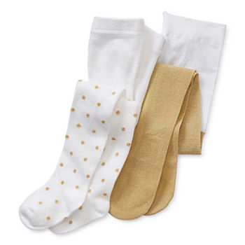 Okie Dokie Baby Girls 2-pc. Dots Tights