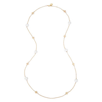 Monet® Crystal Pavé Gold-Tone Ball Illusion Necklace