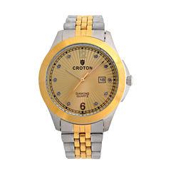 Croton Mens Two Tone Bracelet Watch-Cn307562ttcd