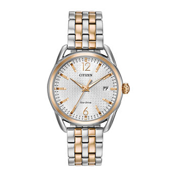 Drive from Citizen Womens Two Tone Stainless Steel Bracelet Watch - Fe6086-74a