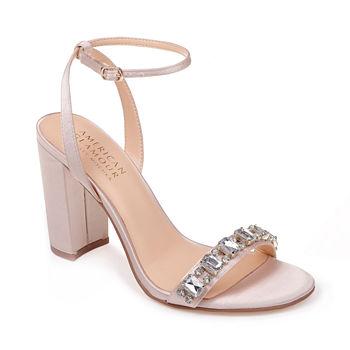 c37718141ac American Glamour Badgley Mischka Womens Charm Pumps Zip Open Toe Block Heel.  Add To Cart. Few Left