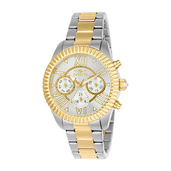 Invicta Angel Lady Womens Chronograph Two Tone Stainless Steel Bracelet Watch - 21425