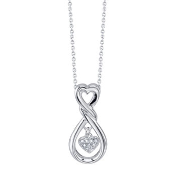 Footnotes Daughter Cubic Zirconia Sterling Silver 18 Inch Cable Pendant Necklace