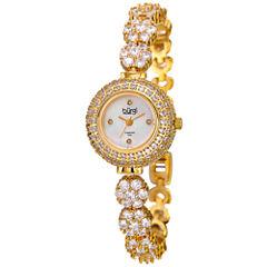 Burgi Womens Gold Tone Bracelet Watch-B-139yg