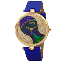 Burgi Womens Blue Strap Watch-B-131bu
