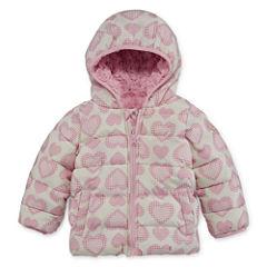 Weatherproof Girls Heavyweight Quilted Jacket-Baby