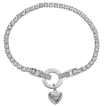 Sparkle Allure White Heart Charm Bracelet