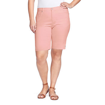 "Gloria Vanderbilt Amanda Womens High Rise 10"" Bermuda Short-Plus"