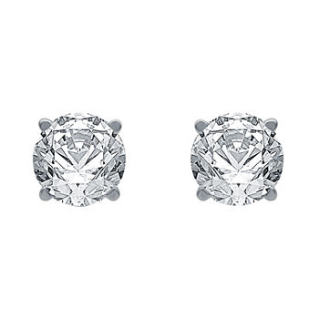 Ever Star 1 CT. T.W. Lab Grown White Diamond 10K Gold Stud Earrings