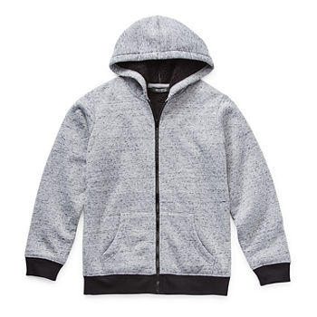 Hollywood Little Boys Knit Hooded Lightweight Jacket