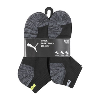 Puma Mens 6 Pair Quarter Socks