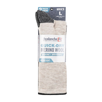 Men's Avalanche 2pk Crew Thermal Quick Dry Socks