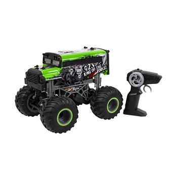 Rc Monster Truck - Green Bus