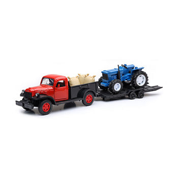 1:32 Dodge Vintage Truck And Farm Tractor Set