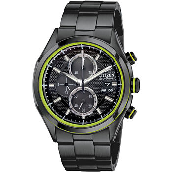 Drive from Citizen Mens Chronograph Black Stainless Steel Bracelet Watch - Ca0435-51e