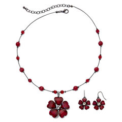 Mixit™ Flower Necklace & Earring Set
