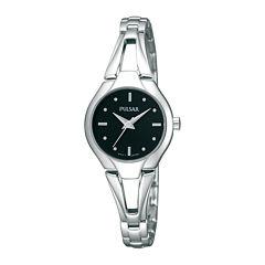 Pulsar® Womens Silver-Tone Bangle Watch PRS663X