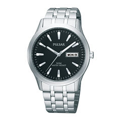 Pulsar® Mens Stainless Steel Watch PXN159X