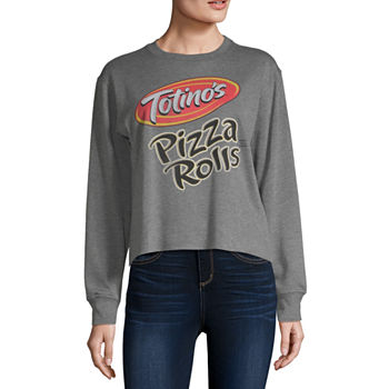 Mighty Juniors Totinos Womens Crew Neck Long Sleeve Sweatshirt
