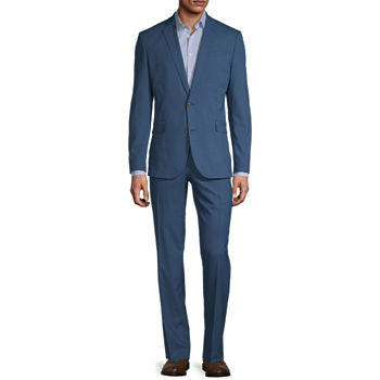 JF J. Ferrar Ultra Mid Blue Dogbone Super Slim Fit Suit Separates