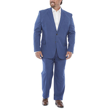JF J. Ferrar Ultra Mid Blue Dogbone Big & Tall Suit Separates