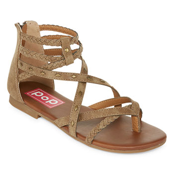 bbd2261bbb746 Pop Beige Juniors  Sandals   Flip Flops for Shoes - JCPenney