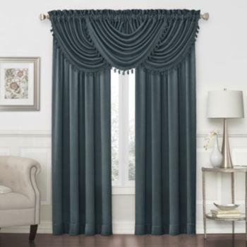 Finest Royal Velvet Blue Valances for Window - JCPenney RD88