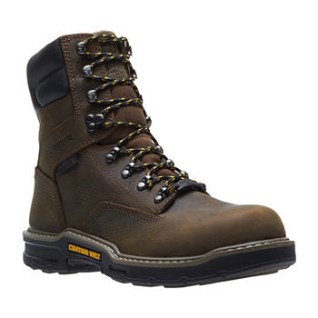 af84c38504c Wolverine Mens Bandit Waterproof Slip Resistant Composite Toe Lace-up Work  Boots