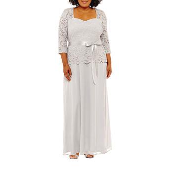82b2ed20c9e Plus Size Silver Dresses for Women - JCPenney