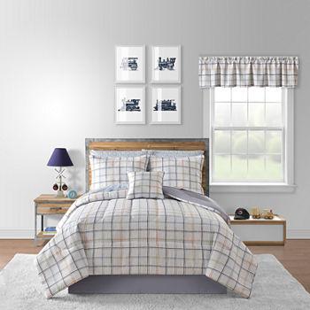 Grid Comforters Bedding Sets For Bed
