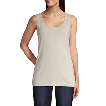 St. John's Bay Tall Womens Scoop Neck Sleeveless Tank Top
