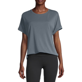 Stylus Shirttail Womens Round Neck Short Sleeve T-Shirt