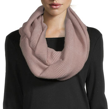 Mixit Pleated Infinity Windowpane Scarf