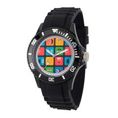 Sesame Street Unisex Black Strap Watch-Wss000007