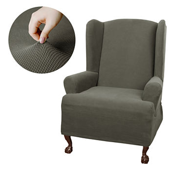 Wing Chair Slipcover Slipcovers For The Home Jcpenney