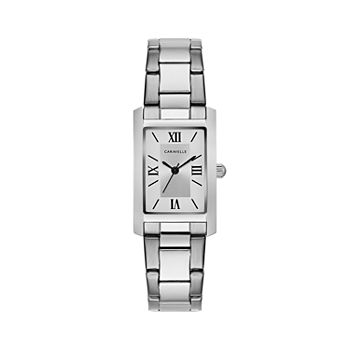 Caravelle Designed By Bulova Womens Silver Tone Stainless Steel Bracelet Watch - 43l203