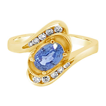 Le Vian Grand Sample Sale™ Ring featuring Cornflower Ceylon Sapphire™ Vanilla Diamonds® set in 14K Honey Gold™