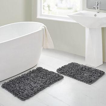 Rectangle Beige Bath Rugs Mats